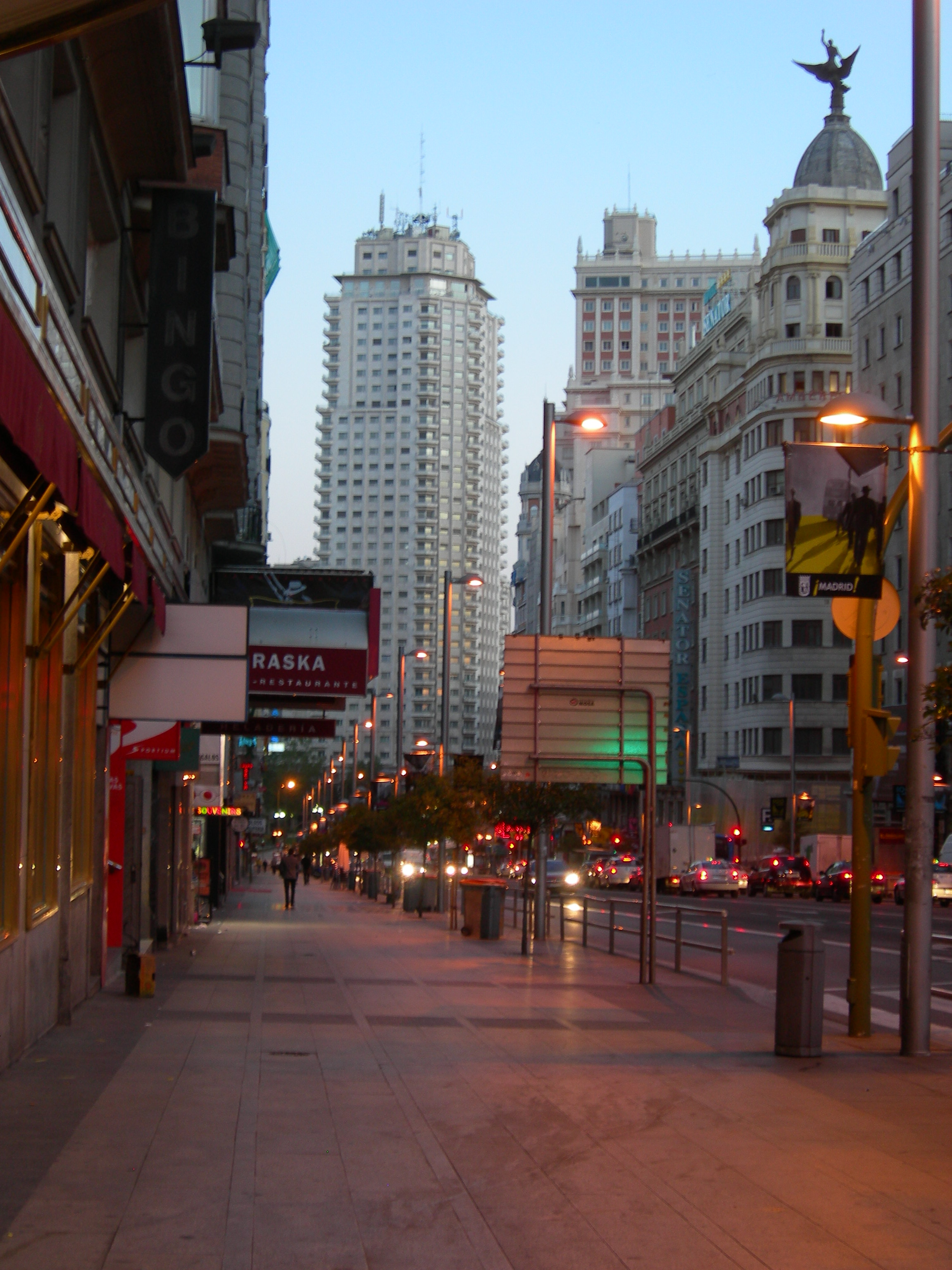 Gran Via The Main Street Madrid The Best Places In Spain