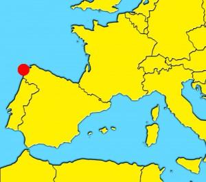 mapa santiago spain