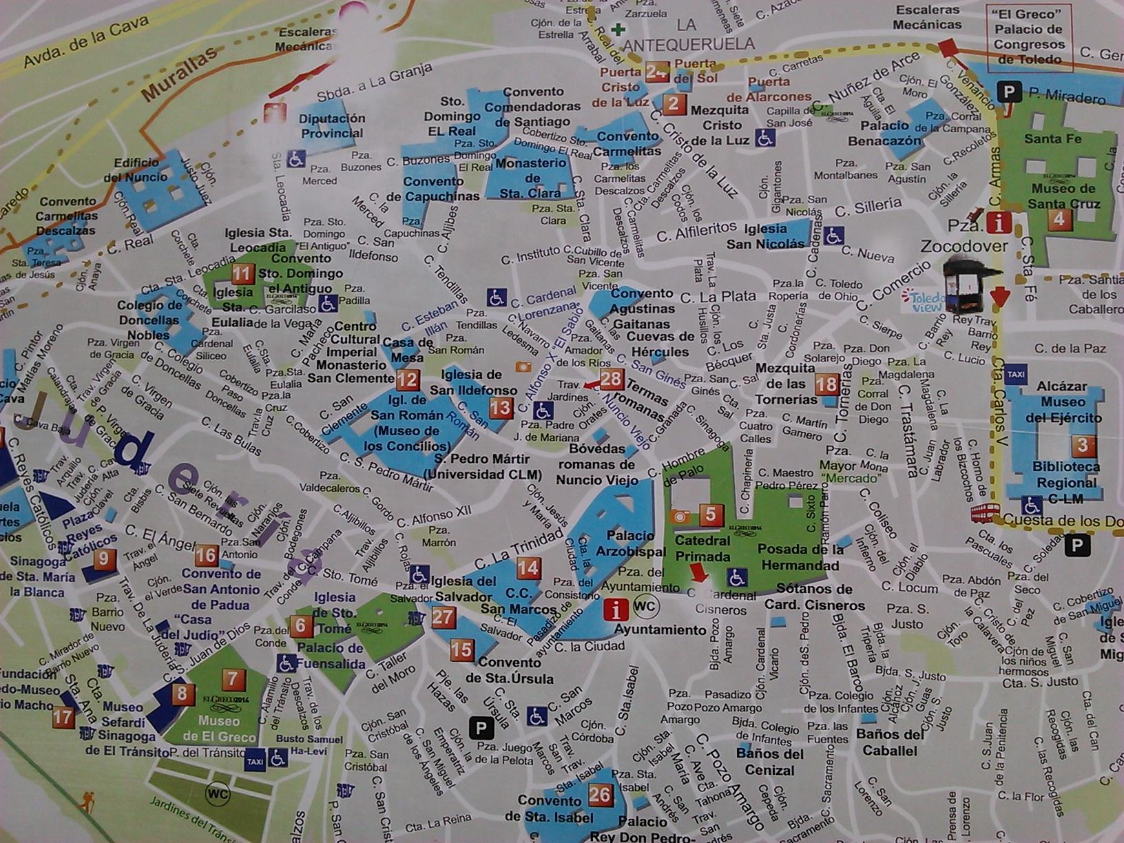 toledo touristic map