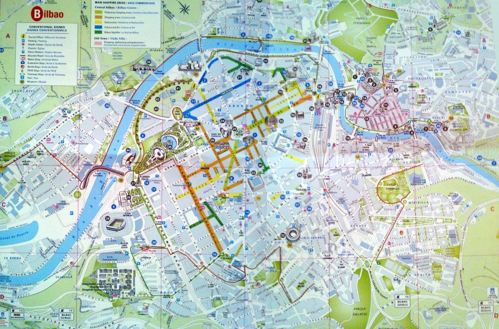 bilbao touristic map