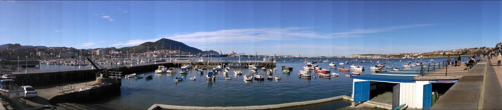 panoramic port at getxo