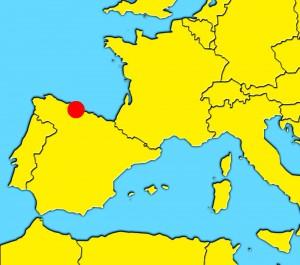 mapa oviedo and gijon spain