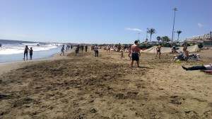 playa del ingles arena