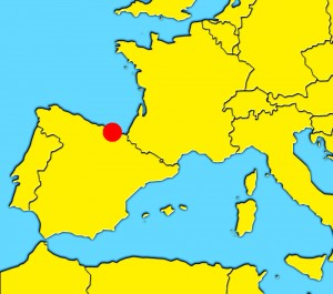 mapa san sebastian spain