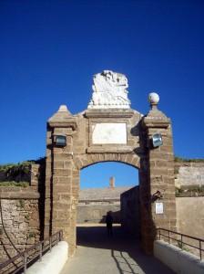 entrada a fortaleza