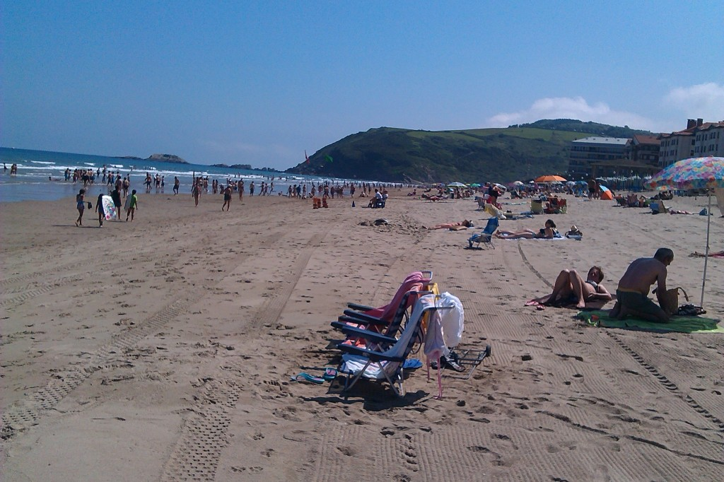 zarautz beach and sea