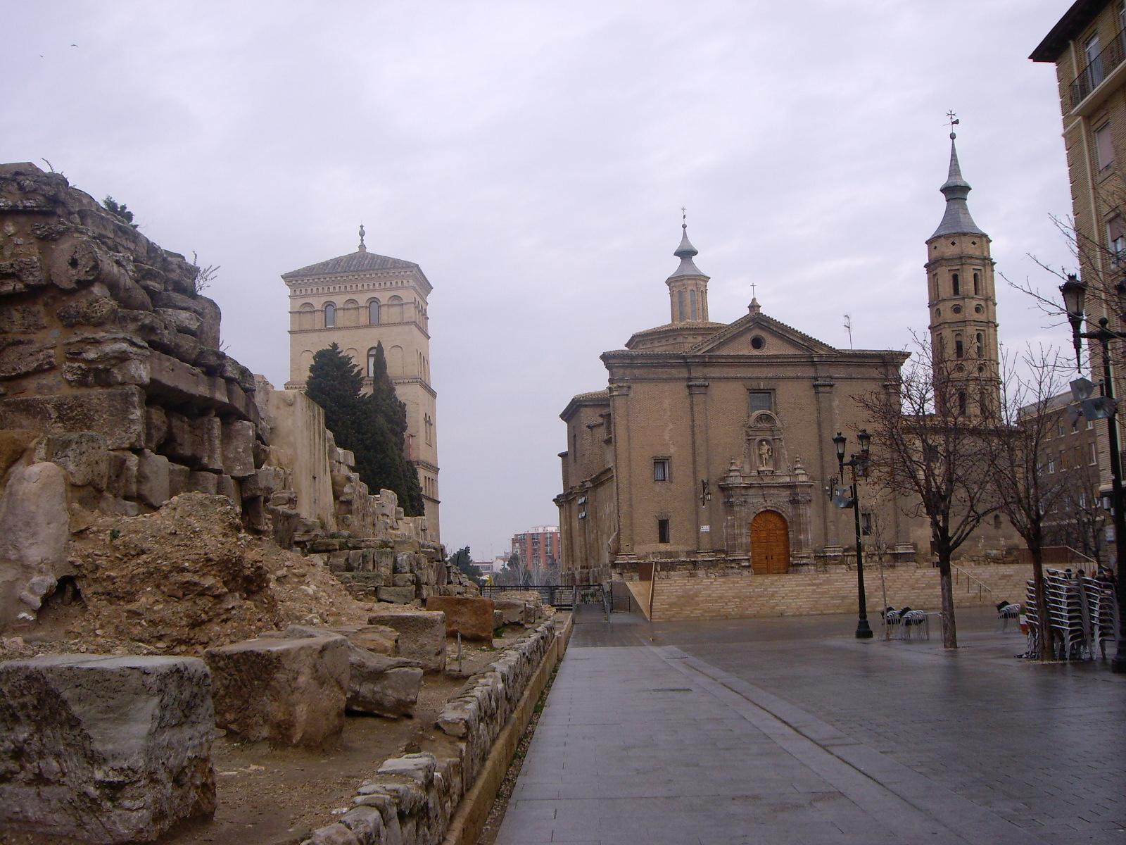 Pilar Square Saragossa Plaza Del Pilar De Zaragoza