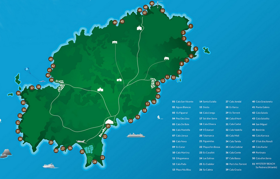 ibiza beaches map
