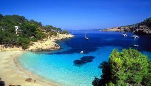 ibiza island beach mediterranean sea